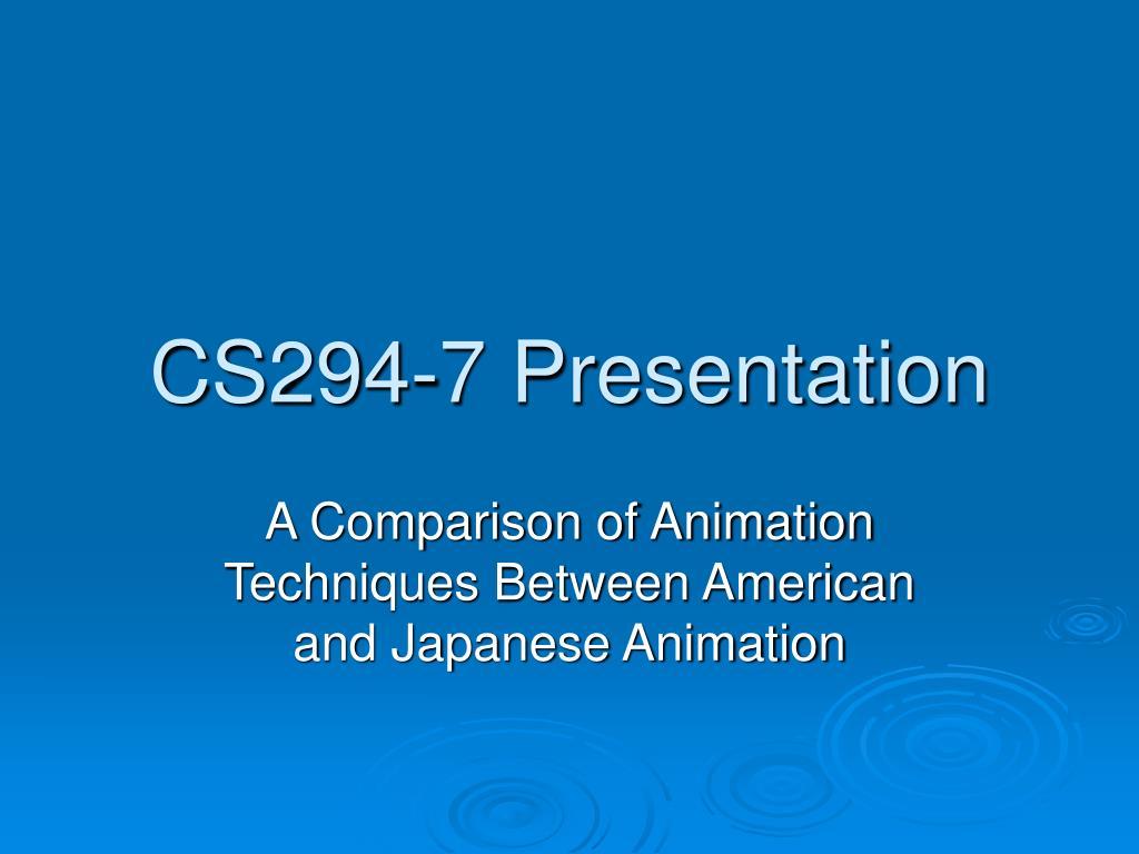 cs294 7 presentation l.