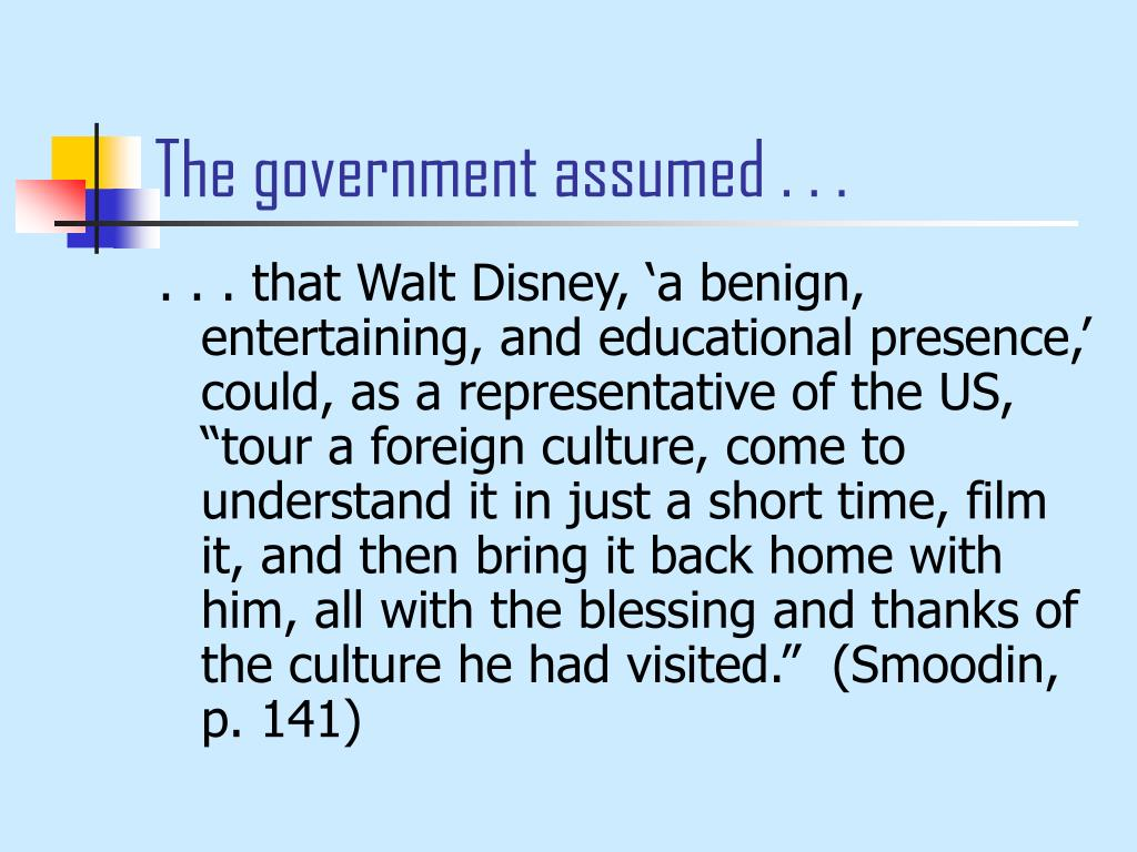 The government assumed . . .