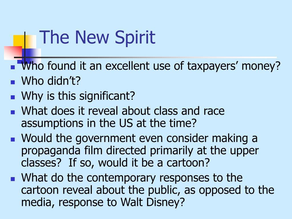 The New Spirit