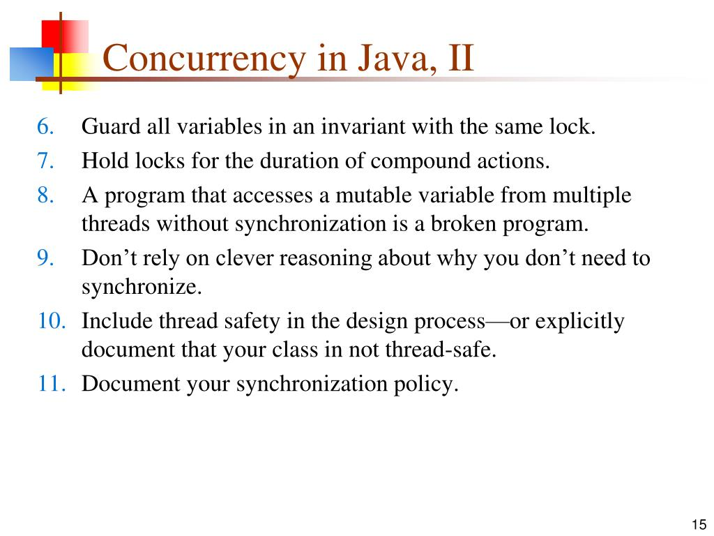 Concurrency in Java, II