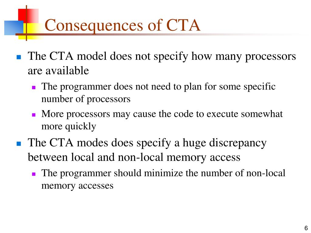 Consequences of CTA