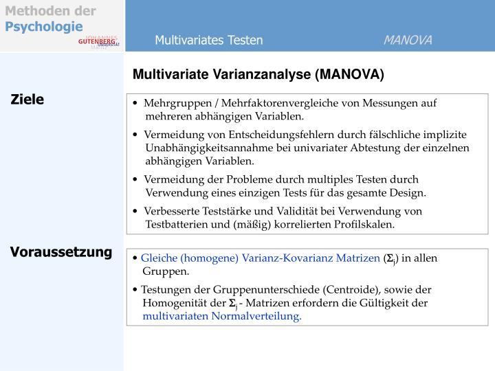 Multivariates Testen