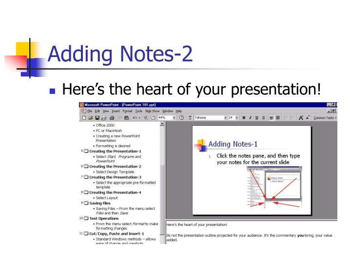 Adding Notes-2