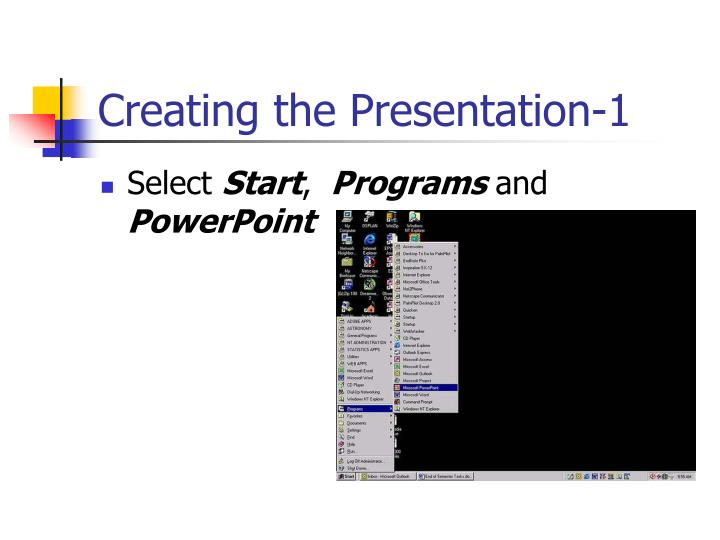 Creating the Presentation-1