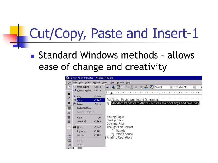 Cut/Copy, Paste and Insert-1