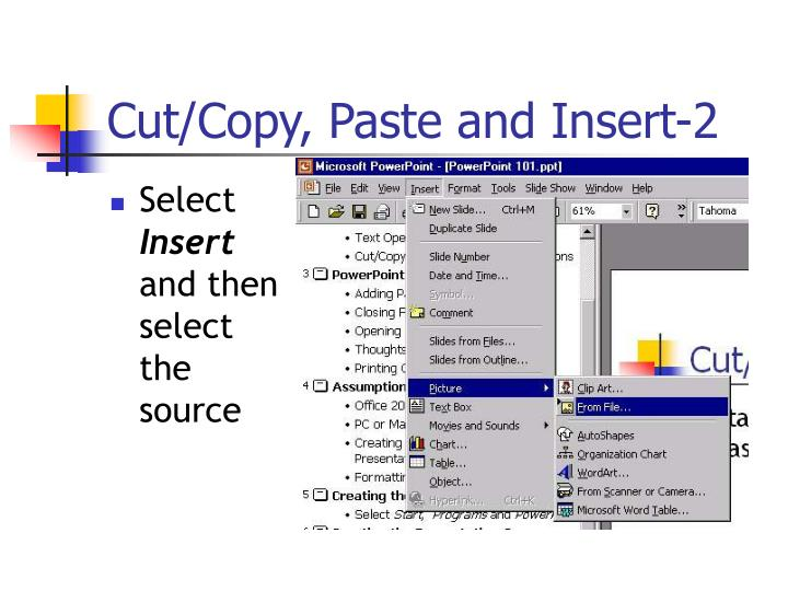 Cut/Copy, Paste and Insert-2