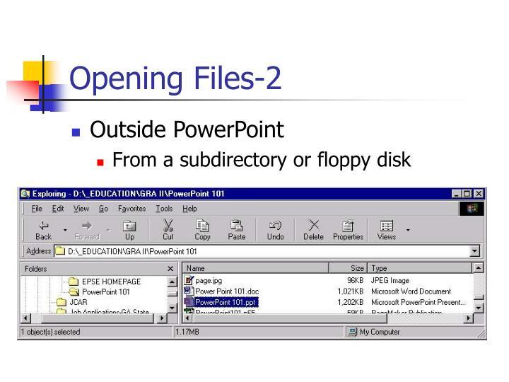Opening Files-2