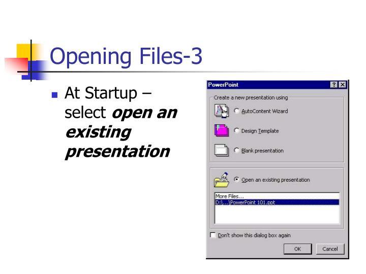 Opening Files-3