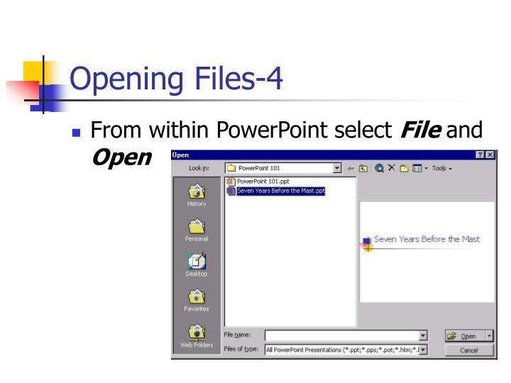 Opening Files-4