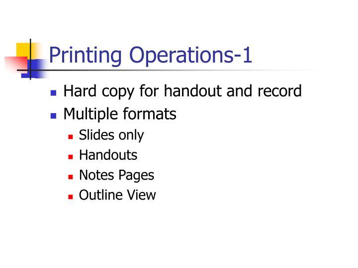 Printing Operations-1