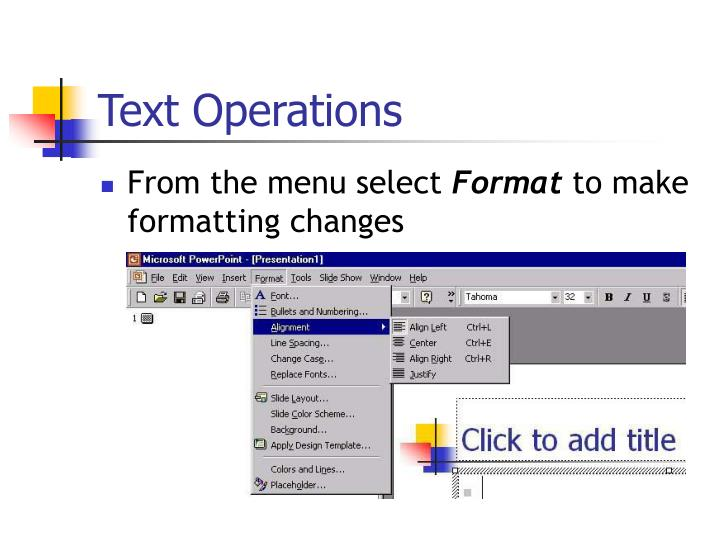 Text Operations