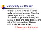 believability vs realism