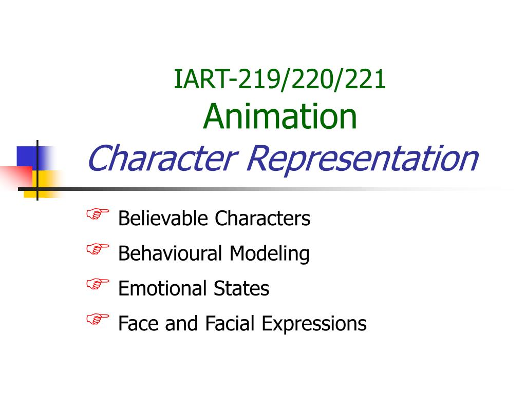 iart 219 220 221 animation character representation l.