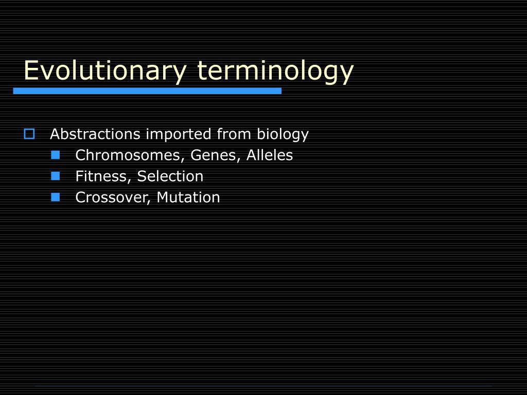 Evolutionary terminology