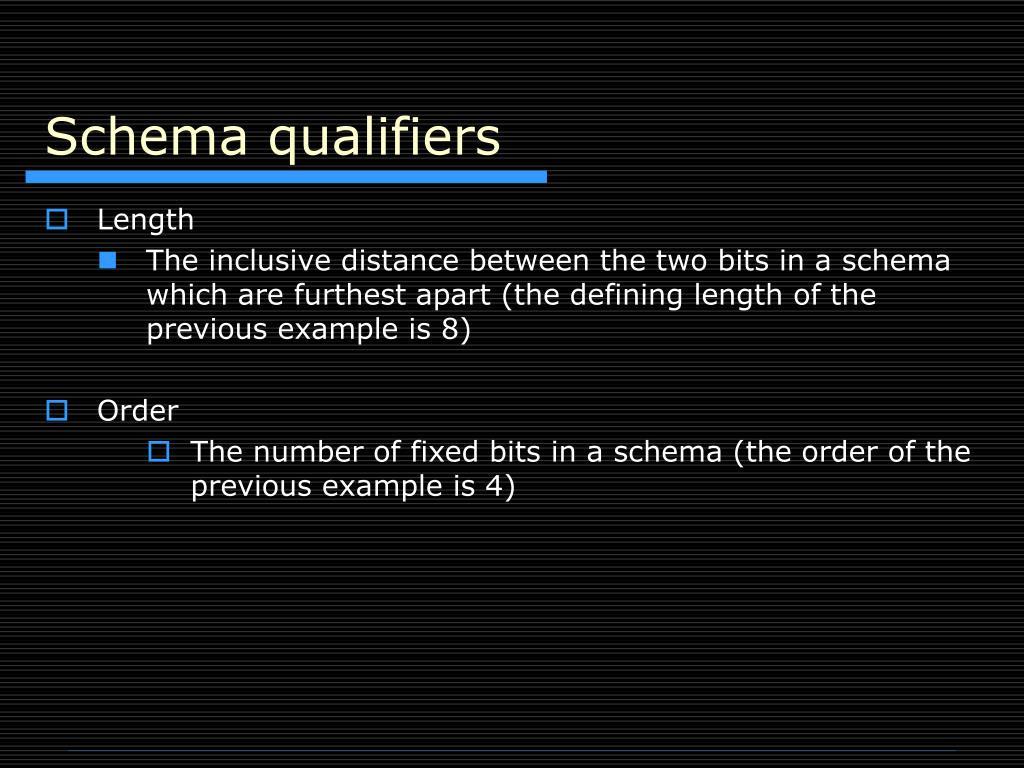 Schema qualifiers