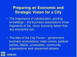 preparing an economic and strategic vision for a city14