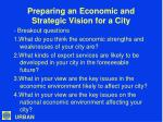 preparing an economic and strategic vision for a city18