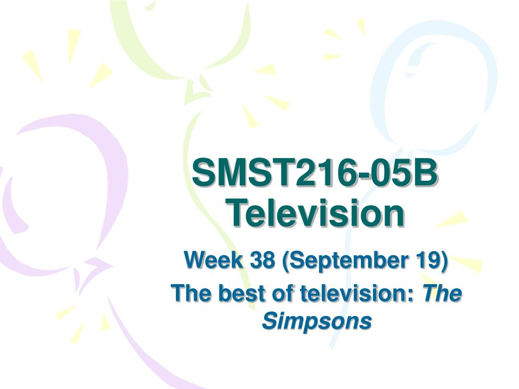 smst216 05b television l.