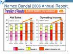 namco bandai 2006 annual report