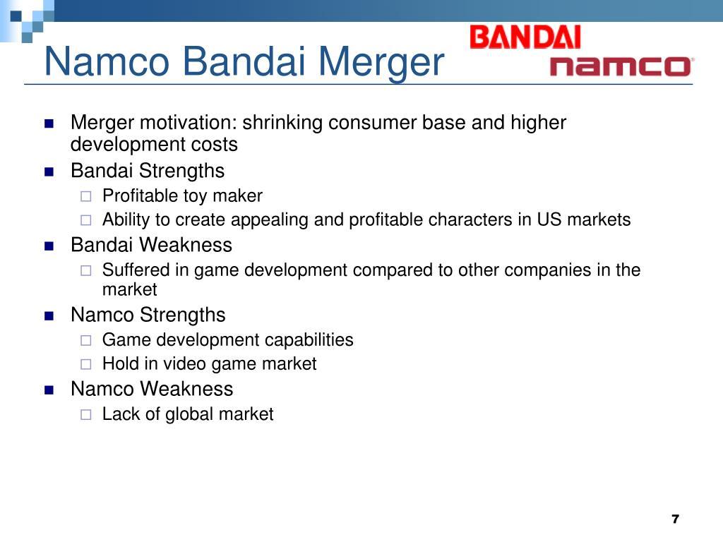 Namco Bandai Merger