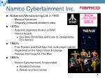 namco cybertainment inc