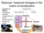 reisman historical changes in the matrix of socialization
