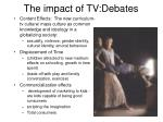 the impact of tv debates