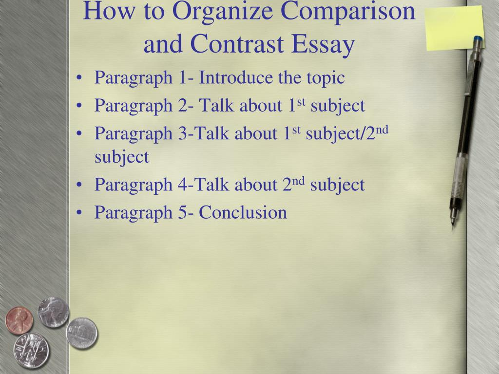 comparison contrast essay assignment Composition iwilson l knight compare/contrast research essay description: for your first full-length essay assignment, you.