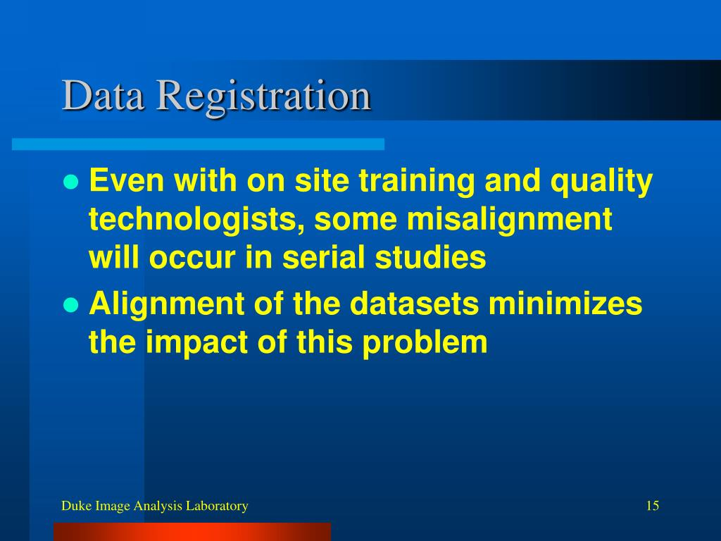 Data Registration