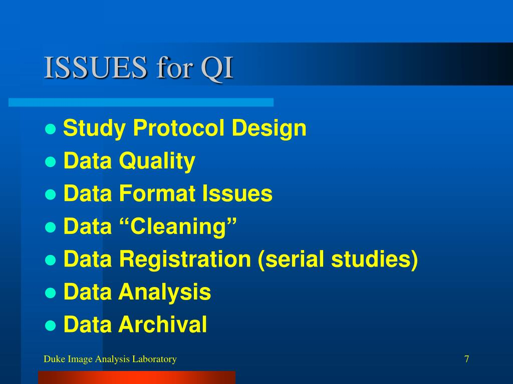 ISSUES for QI