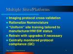 multiple sites platforms