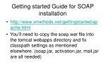 getting started guide for soap installation