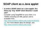 soap client as a java applet