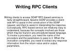 writing rpc clients