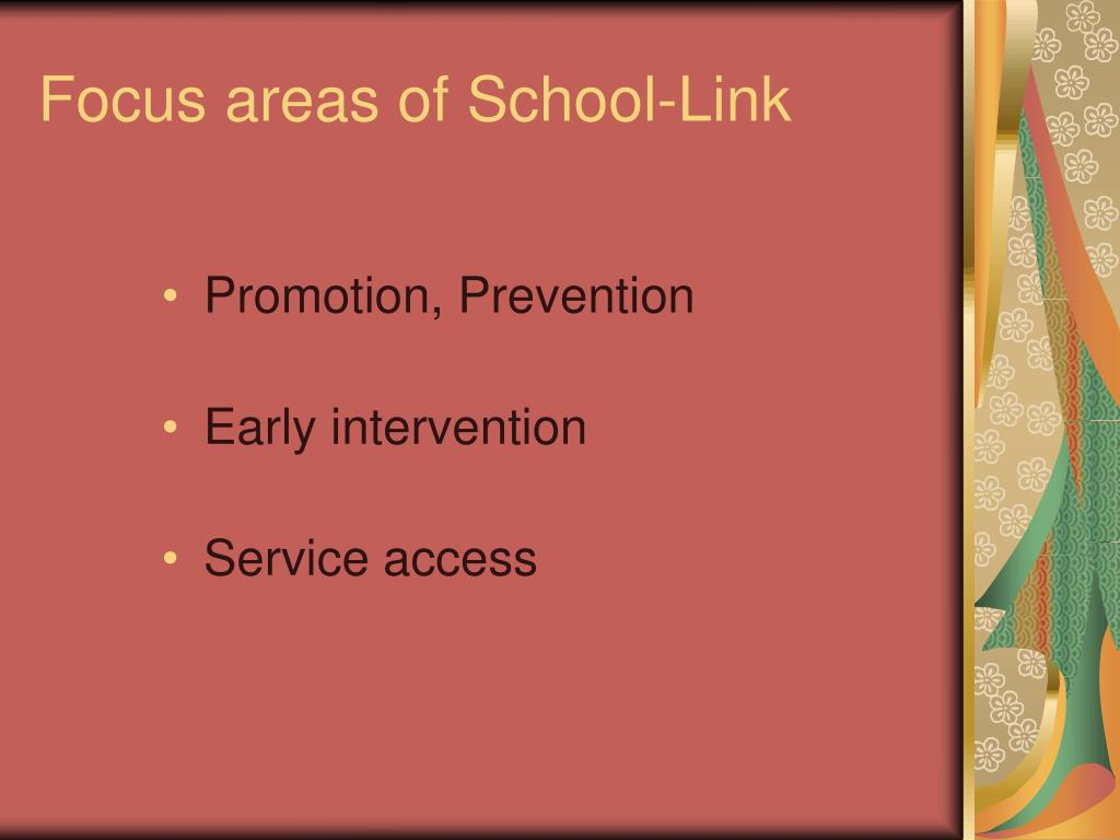 Focus areas of School-Link