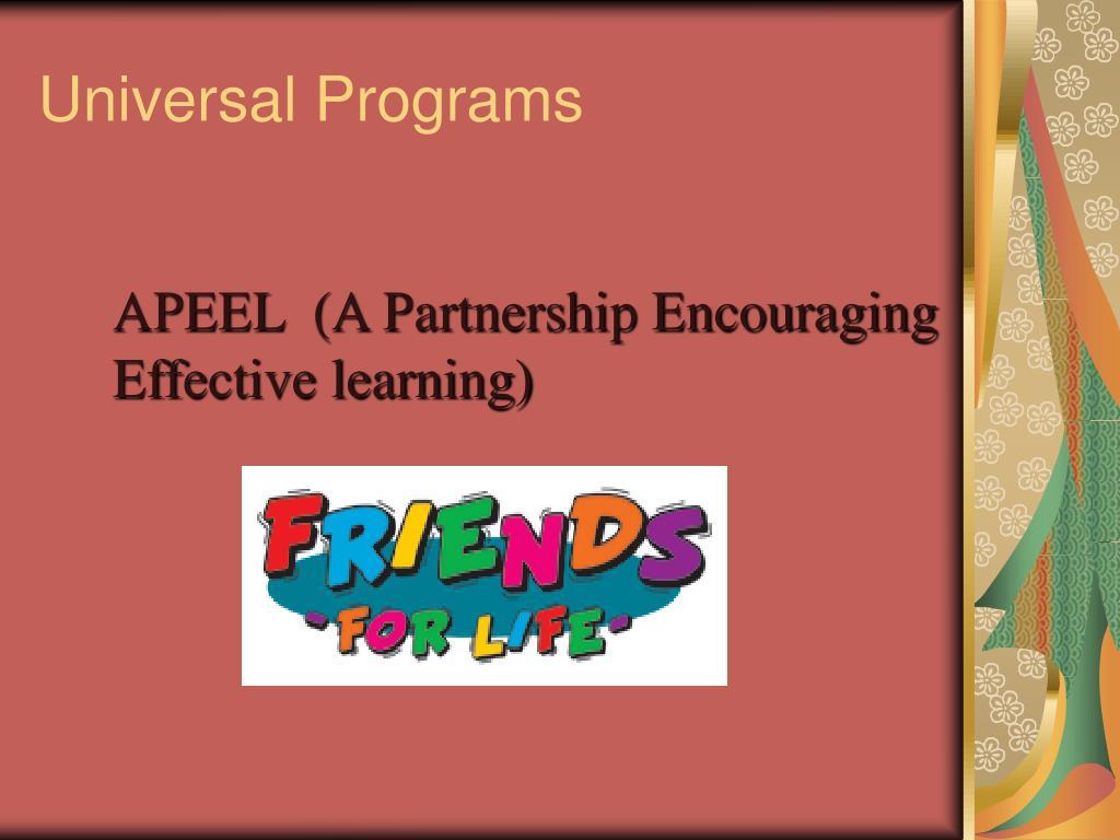 Universal Programs