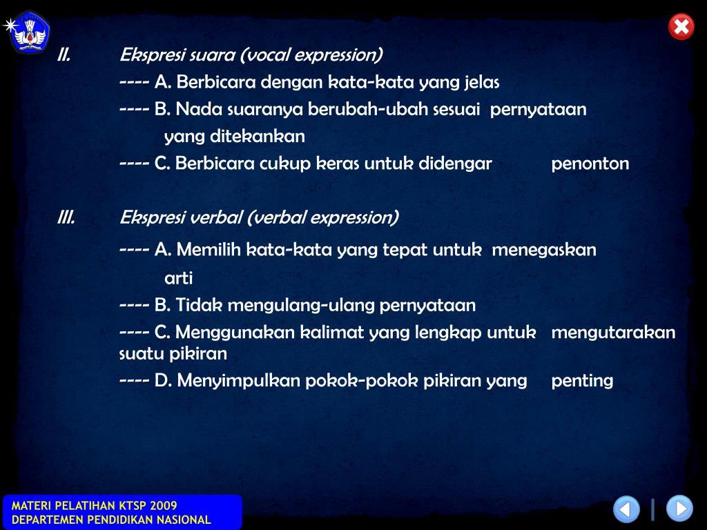 II.Ekspresi suara (vocal expression)