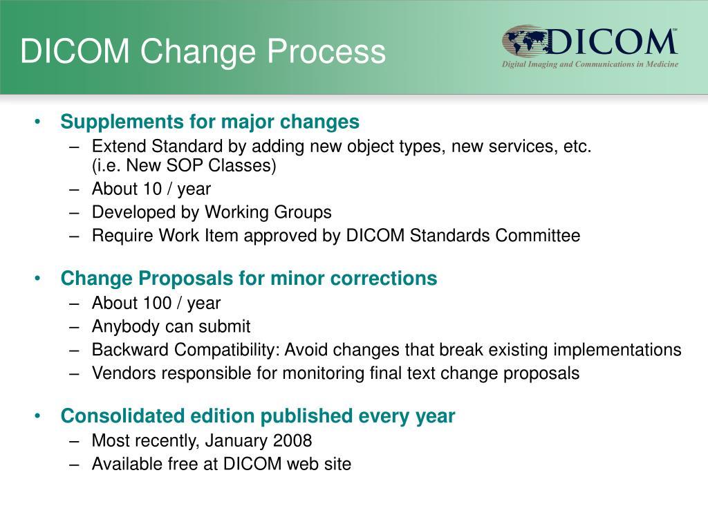 DICOM Change Process