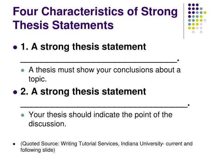 a thesis statement should be
