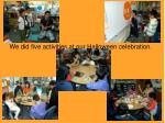we did five activities at our halloween celebration