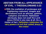 abstain from all appearance of evil 1 thessalonians 5 22