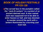book of holiday festivals pp 125 126