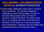 halloween celebration of death by barbara borders