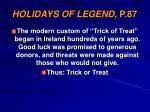 holidays of legend p 87