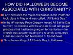 how did halloween become associated with christianity19