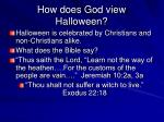 how does god view halloween