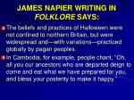 james napier writing in folklore says