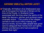 satanic bible by anton lavey