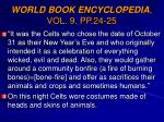 world book encyclopedia vol 9 pp 24 25