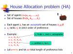 house allocation problem ha